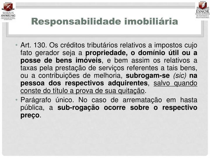 Responsabilidade imobiliária