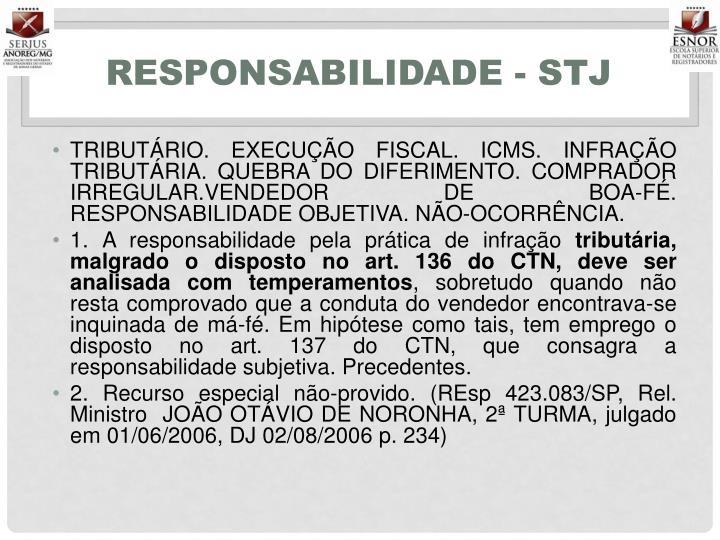 Responsabilidade - STJ