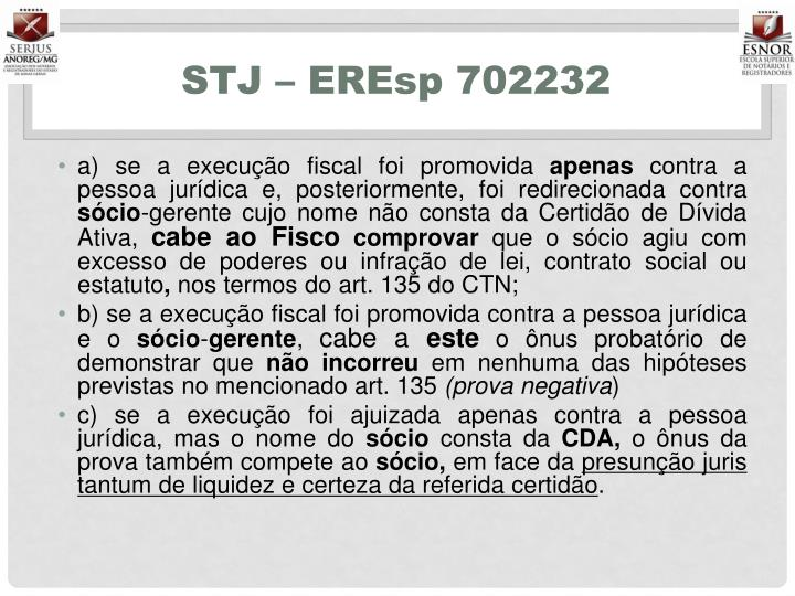 STJ – EREsp 702232