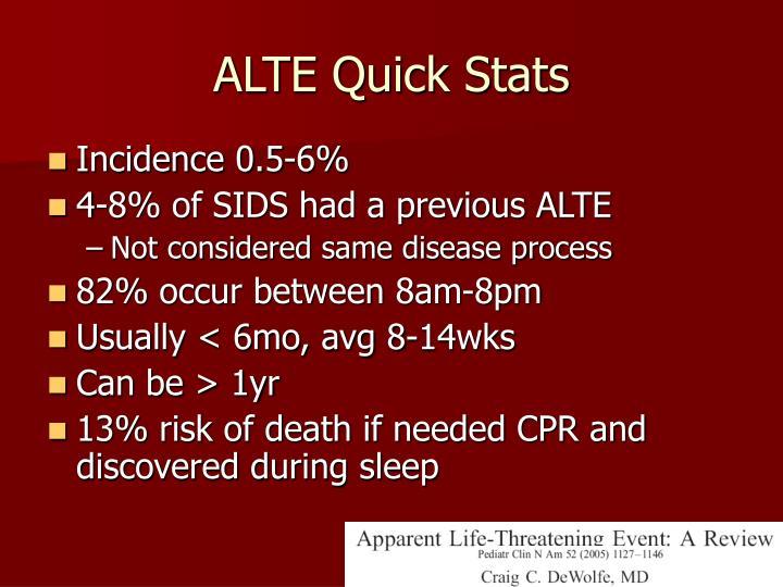 ALTE Quick Stats