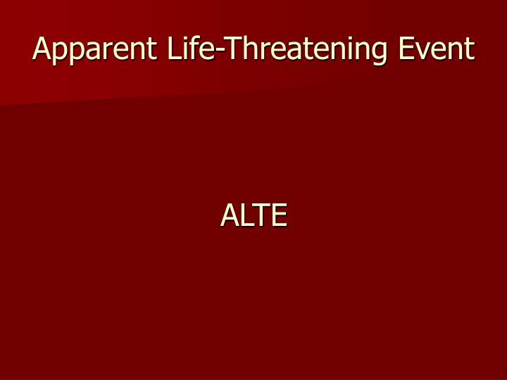 Apparent Life-Threatening Event