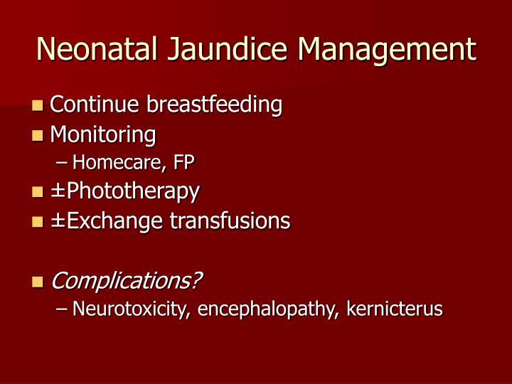 Neonatal Jaundice Management