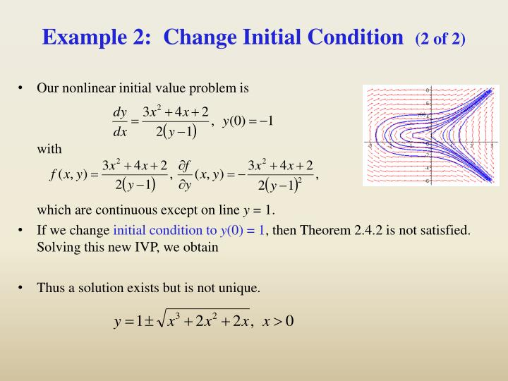 Example 2:  Change Initial Condition