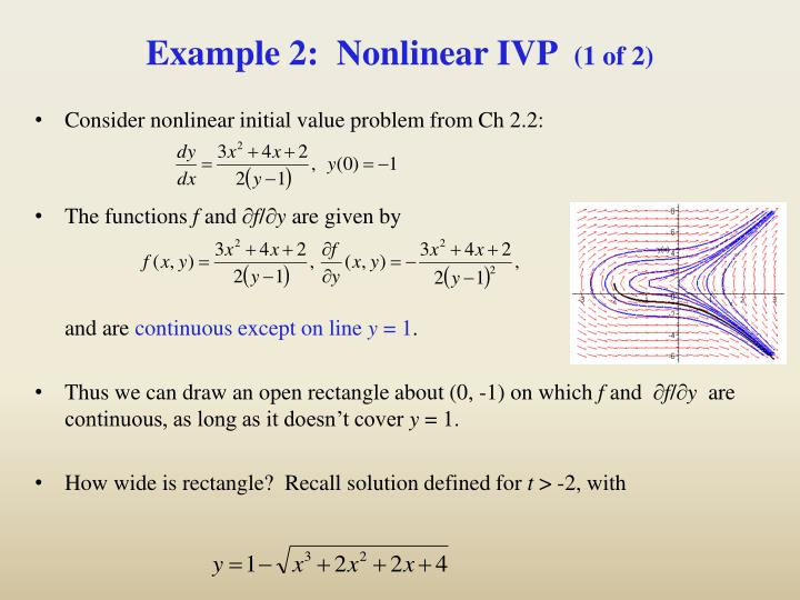 Example 2:  Nonlinear IVP