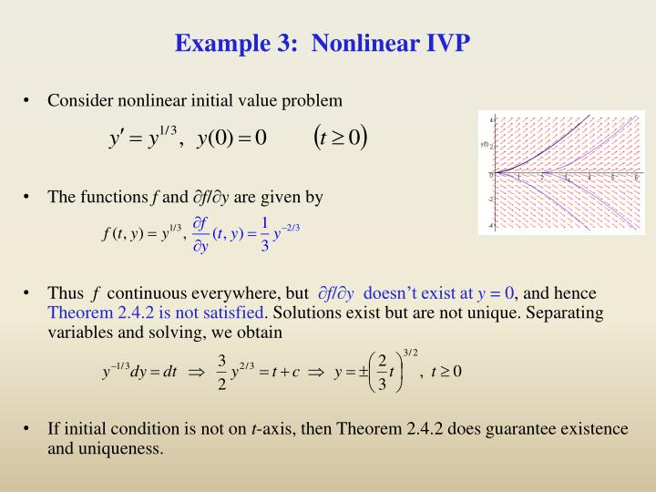 Example 3:  Nonlinear IVP