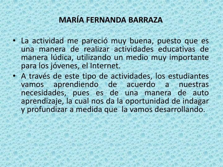 MARÍA FERNANDA BARRAZA
