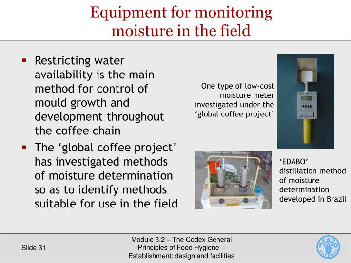One type of low-cost moisture meter investigated under the 'global coffee project'