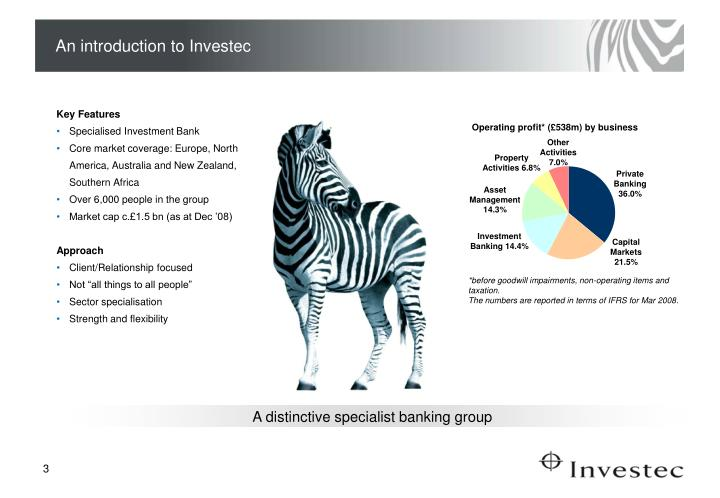 An introduction to Investec