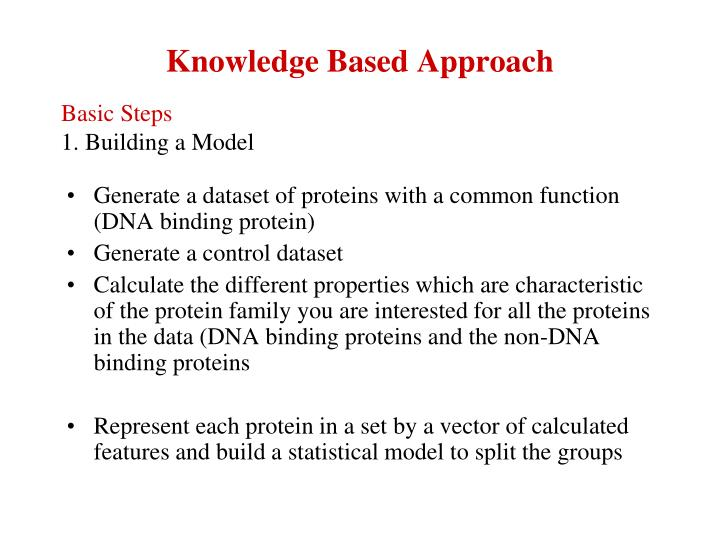 Knowledge Based Approach