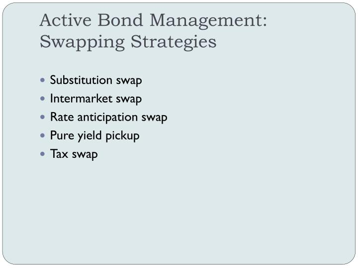 Active Bond Management: