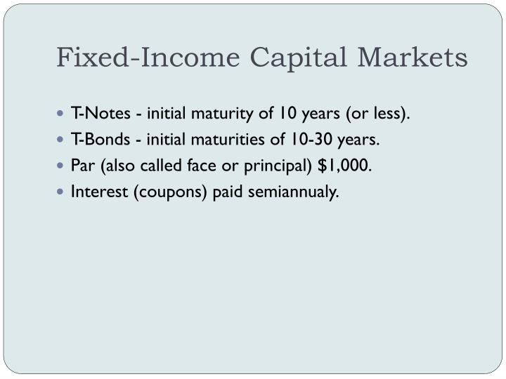 Fixed-Income Capital Markets