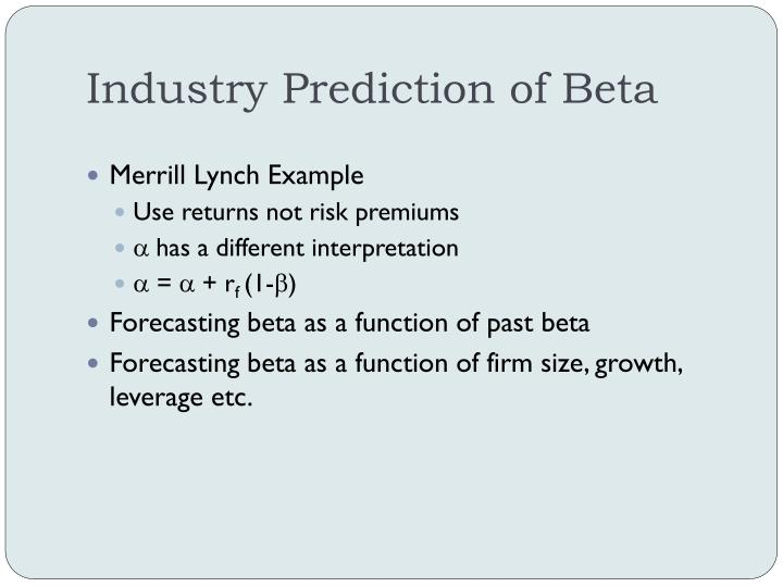 Industry Prediction of Beta