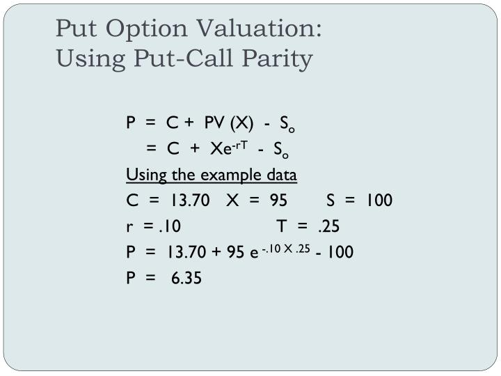 Put Option Valuation:
