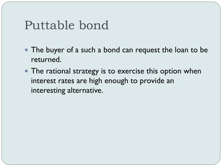Puttable bond