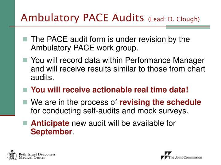 Ambulatory PACE Audits