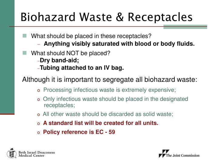 Biohazard Waste & Receptacles
