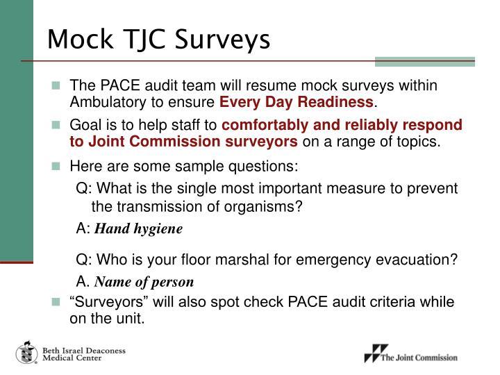 Mock TJC Surveys