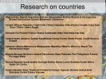 research on countries