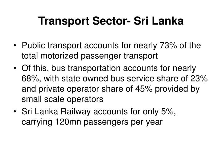 Transport sector sri lanka