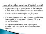 how does the venture capital work