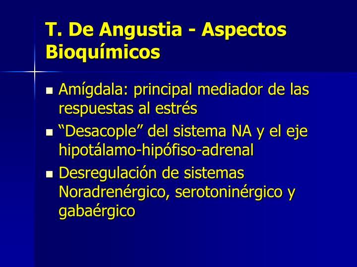 T. De Angustia - Aspectos Bioquímicos