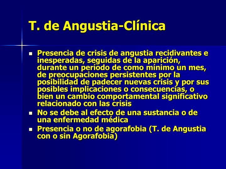 T. de Angustia-Clínica