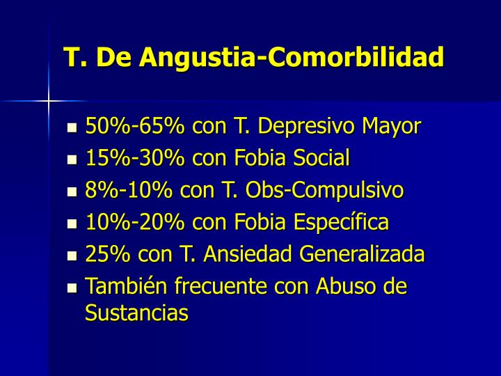 T. De Angustia-Comorbilidad
