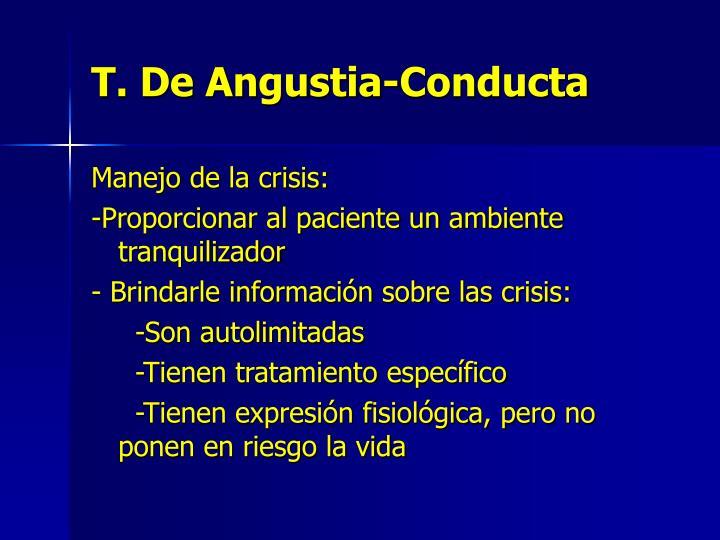 T. De Angustia-Conducta