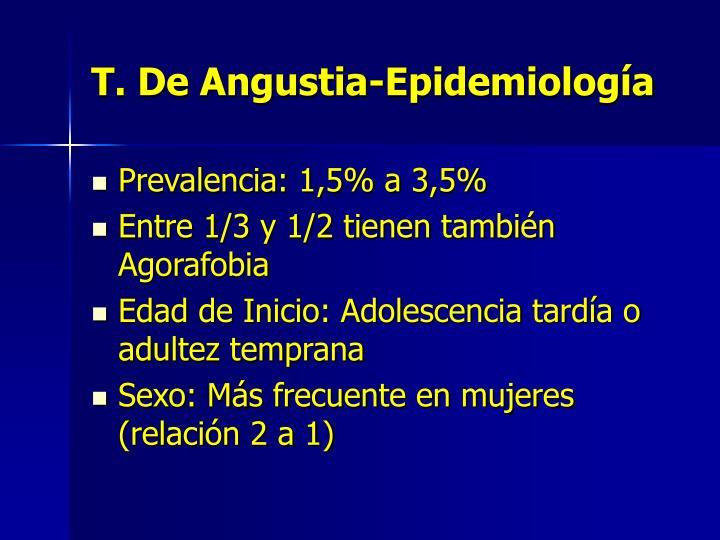 T. De Angustia-Epidemiología