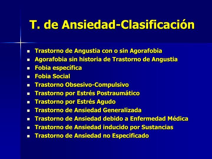 T. de Ansiedad-Clasificación