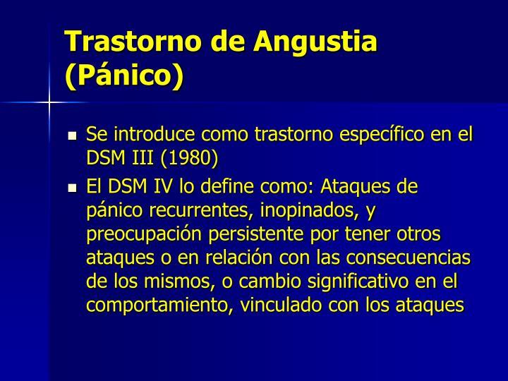 Trastorno de Angustia (Pánico)