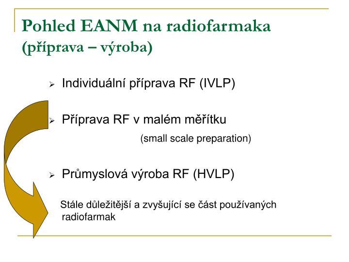 Pohled EANM na radiofarmaka