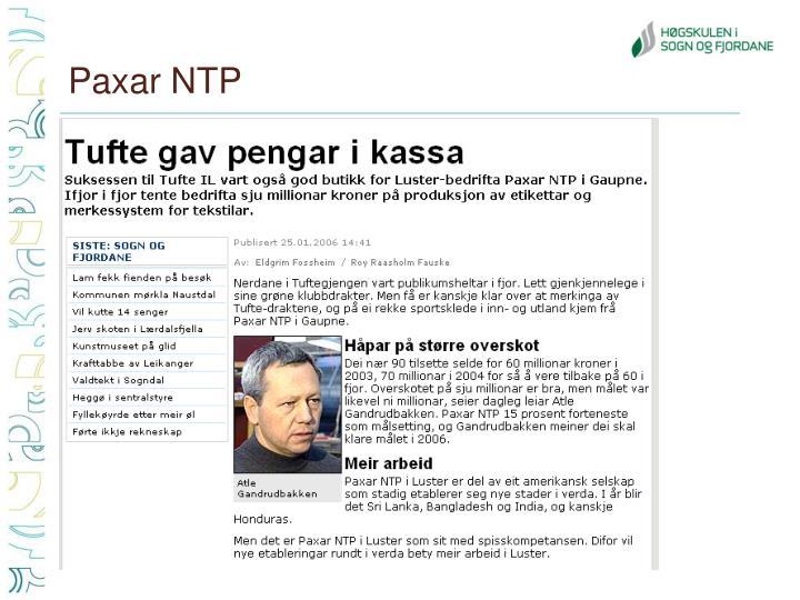 Paxar NTP
