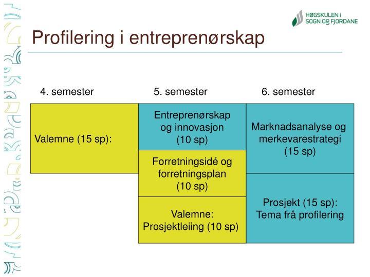 Profilering i entreprenørskap