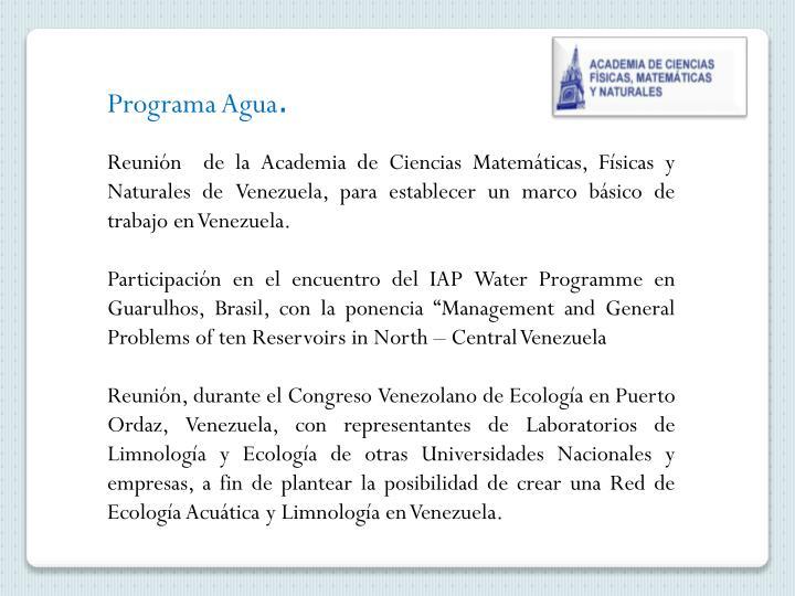 Programa Agua