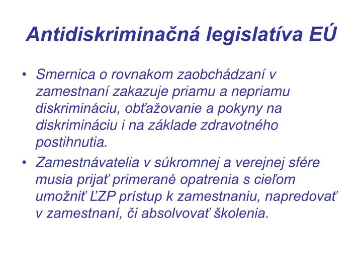 Antidiskriminačná legislatíva EÚ