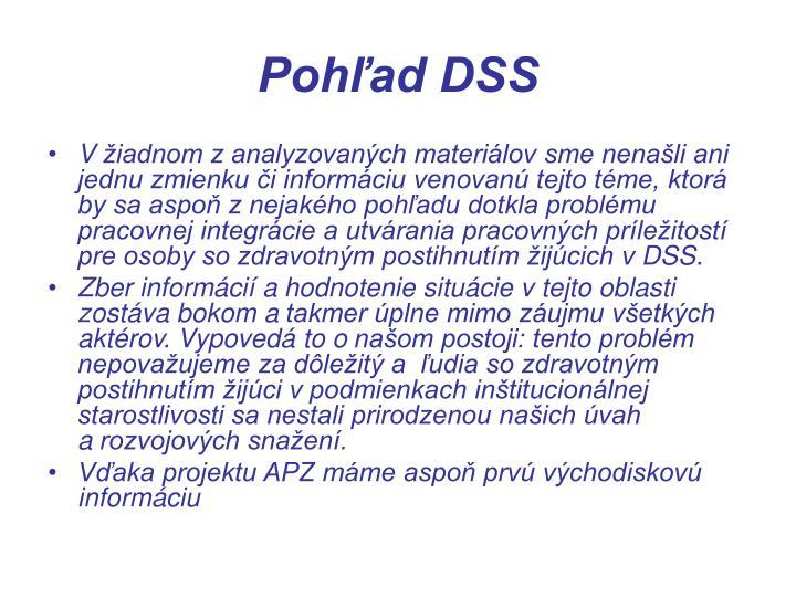 Pohľad DSS