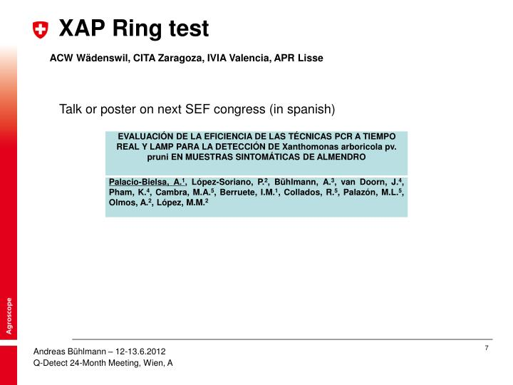 XAP Ring test