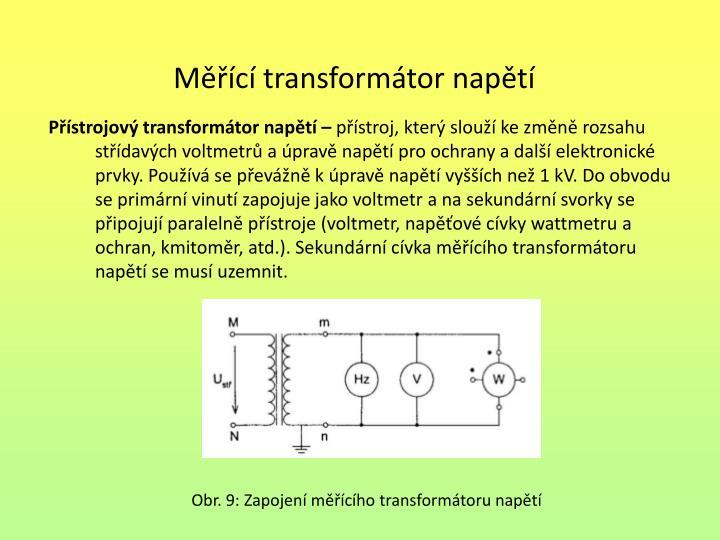 Přístrojový transformátor napětí –
