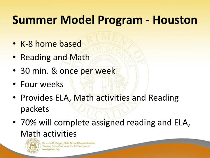 Summer Model Program - Houston