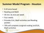 summer model program houston