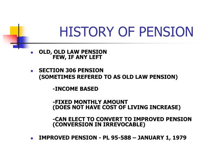 HISTORY OF PENSION
