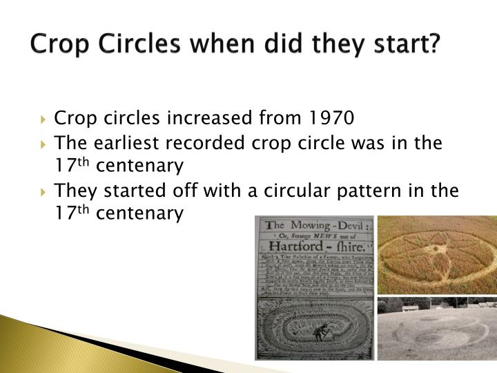 Crop Circles when did they start?