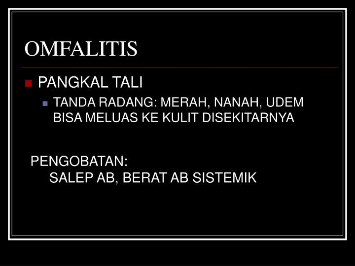 OMFALITIS