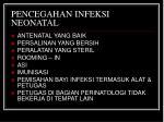 pencegahan infeksi neonatal