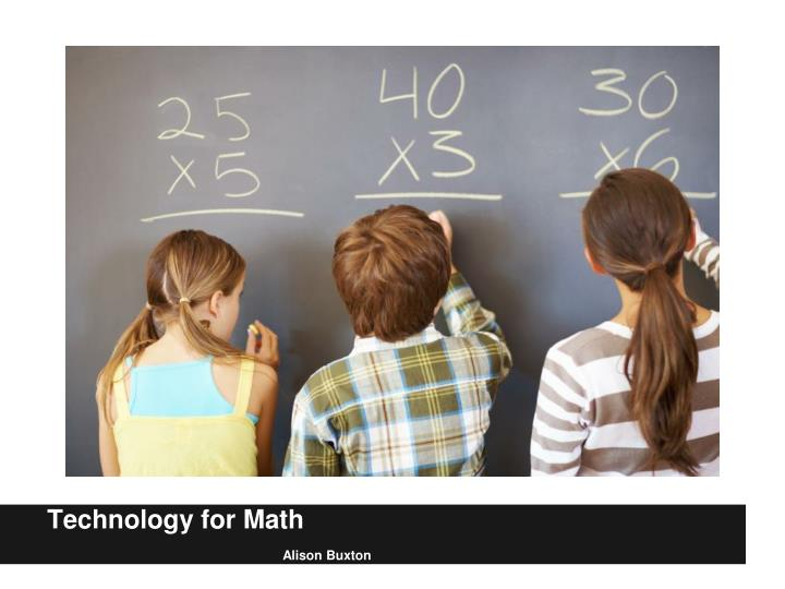 Technology for Math