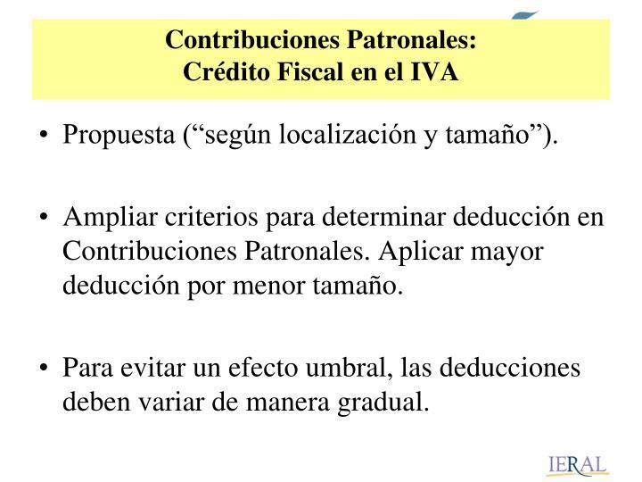 Contribuciones Patronales: