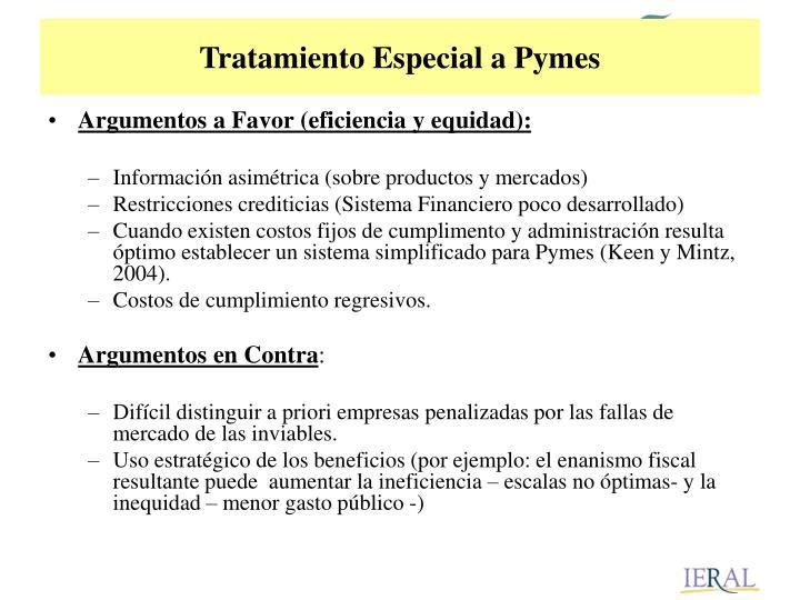 Tratamiento Especial a Pymes