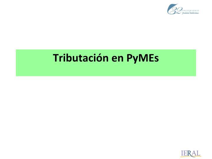 Tributación en PyMEs