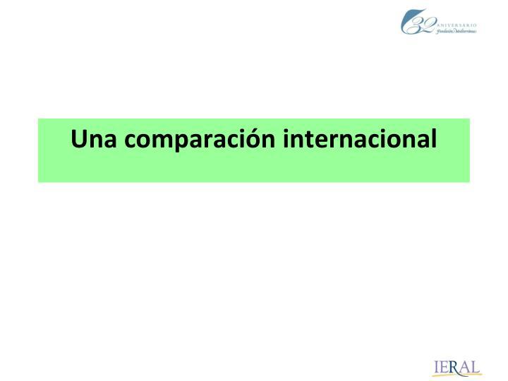 Una comparación internacional